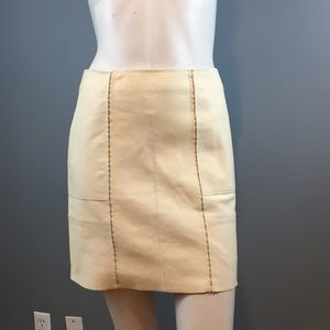 NWOT 3.1 Phillip Lim Cream Leather Skirt Size 0